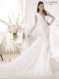 Sheath Wedding Dress : Tarik Ediz Wedding Dresses 2014 Collection Part I. To see more: www.modwedding.c