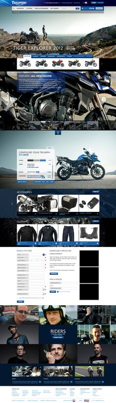 Triumph Motorcycles Website #web #interface #ui