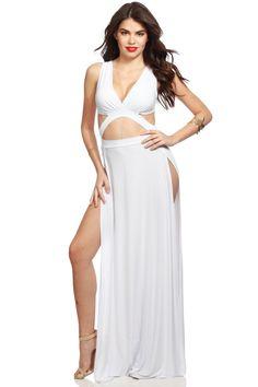 White toga dress prom.