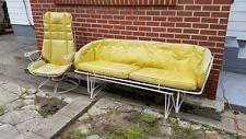 Vintage Mid Century Outdoor Homecrest Wire Patio furniture Glider Bench Chair