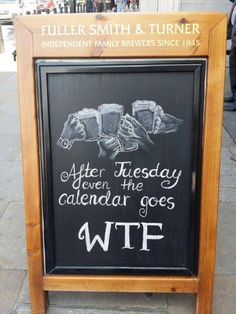 Funny Signs | From YourShotOf Whiskey on Twitter #chalkboard #wtf #funny