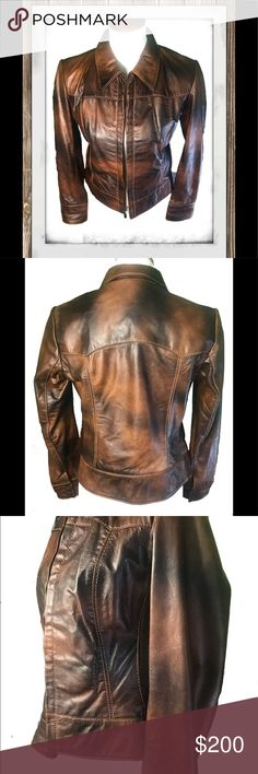 """100% Leather Moto Jacket 