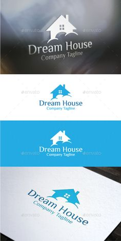 Dream House by logotype An creative logo template suitable for any business related to Cleaning Services, Building And Construction fields, or even Mortga Logo Design Template, Logo Templates, Building Logo, House Building, Dream Logo, Real Estate Logo Design, Architecture Logo, Service Logo, Logo Maker