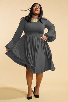 b80ed5856e83 Plus size Womens fashion ideas.. #nightoutplussizefashion Grey Plus Size  Dresses, Plus Size