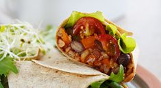 Burritos with Spanish Rice and Black Beans Plant Strong