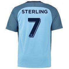 Manchester City 16-17 Raheem Sterling 7 Hemmatröja Kortärmad  #Fotbollströjor