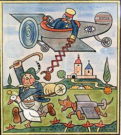 Josef Lada illustration - The Catcher