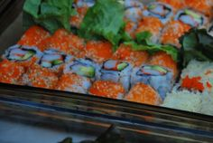 All natural and organic california rolls tray