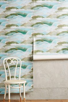 Discover unique wallpaper at Anthropologie, from printed wallpaper to floral wallpaper and more. Wallpaper Stencil, Cover Wallpaper, Kitchen Wallpaper, Unique Wallpaper, Nature Wallpaper, Wall Wallpaper, Chinese Wallpaper, Wallpaper Ideas, Home Decor Inspiration