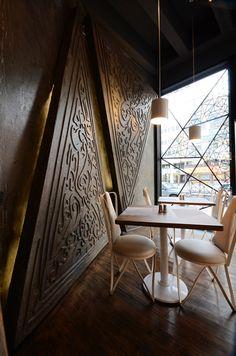 Triangle Restaurant by LINES , via Behance walls & windows