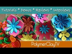 How to make a cute flower plant poker from polymer clay by PolymerClayTV