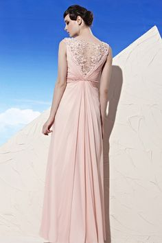 Pink Beaded Lace Capsleeveve DRESS