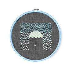 IT'S RAINING HEARTS Modern Cross Stitch