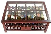 Pallet wine rack from reused drain pipe