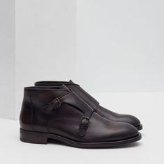 Image 3 of LEATHER MONKSTRAP BOOTS from Zara
