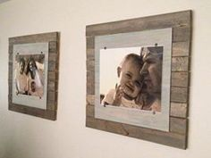simple and easy pallet picture frames you probably already do these but i thought they were neat pallet ideas pinterest boy art wood pictures and