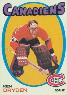 Ken Dryden Rookie Card 1971-72