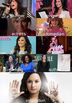 My idol & role model ♥ that pretty much sums it up Demi Love, Love Her, Demi Lovato Quotes, Shes Perfect, Beautiful Person, Her Music, American Singers, Comedians, Role Models
