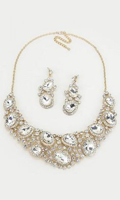 Crystal Marie Anne Necklace in Gold