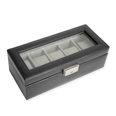 71b4287e5 5 Slot Leather Watch Box In Black Display Boxes