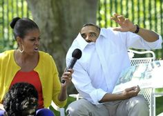Barack and Michelle Obama reading 'Where the Wild Things Are'...this makes me smil
