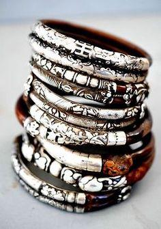 ➳➳➳☮American Hippie Bohemian Boho Bohéme Feathers Gypsy Spirit Bizu Baroque Tati Tati Style - Jewelry bangle bracelets