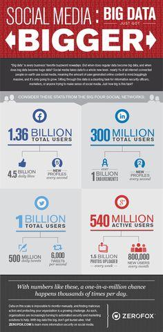Social Media: Big Data Just Got Bigger #infographic #SocialMedia #BigData