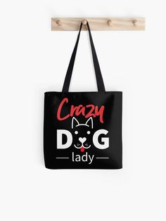 Crazy Dog Lady Dog Face Tote Bag.  Cute funny dog face design for the crazy dog lady. Who can resist this adorable dog face with tongue hanging out.  #dogs # dad #dogmom #lovedogs #dog #funny #petlovers #petlover #dogmum #doglady #dog #puppy #pet #giftideas #fashion #homedecor #artsandcrafts #redbubble #art #redbubblecommunity #redbubbleshop #ad @giftsbyminuet Funny Dog Faces, Cute Funny Dogs, Crazy Dog Lady, Face Design, Dog Mom, Hanging Out, Arts And Crafts, Reusable Tote Bags, House Sitting