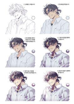 Digital Painting Tutorials, Digital Art Tutorial, Art Tutorials, Anime Drawings Sketches, Manga Drawing, Drawing Base, Concept Art Tutorial, Anatomy Art, Art Reference Poses