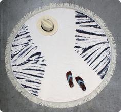 Full Moon Tassel Towel Diamond dye Natural | WOO.