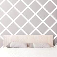 Items similar to easy stripes wall decals - 3 in x 12 yds on etsy Easy Stripes Wall Decals 12 x 30 cm by WallsNeedLove on Etsy Painting Stripes On Walls, Diy Wall Painting, Wall Stripes, Striped Room, Striped Walls, Bedroom Wall, Bedroom Decor, Room Paint, Wall Design