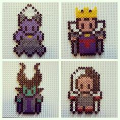 Disney Villains (Ursula, Evil Queen, Maleficent and Cruella) perler beads by tinaerdbeer
