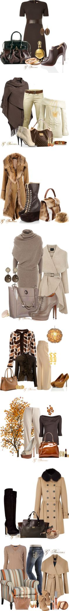 """Shades of Brown"" by gaburrus on Polyvore"