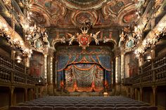 Opéra prince électeur Louis de Franconie - photo by Bernhard Hartmann (1955-) renowned landscape photographer -- This is one of his series of fantastic photographs of European opera houses, theaters & manor houses. In 2007 Harmann was designated the Fine Arts Winner INternational Color Arts (Master of Photography).