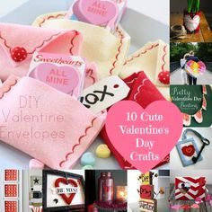 10 Cute Crafts For Valentine's Day hey moms or dads how about little more crafts with our kids..