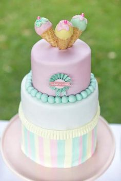 Ice cream themed party by Sugar Coated Mama