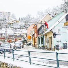 Winter wonderland. Třebíč, Czech Republic    _________  #czechrepublic #trebic #europe #travel #oldtown #unesco #jewishquarter #winter #snow #sightseeing Winter Snow, Czech Republic, Old Town, Winter Wonderland, Street View, Europe, Travel, Instagram, Old City