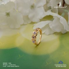 Gemstone Ring gms) - Gemstone Jewellery for Women by Jewelegance Gold Rings Jewelry, Gold Jewelry Simple, Jewelry Design Earrings, Gold Earrings Designs, Gold Ring Designs, Gold Bangles Design, Gold Jewellery Design, Gold Ring Indian, Indian Wedding Rings