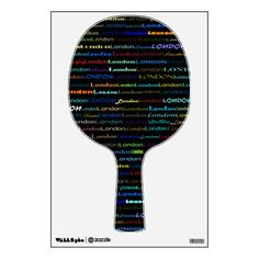 London Text Design I Wall Decal Ping Pong Paddle
