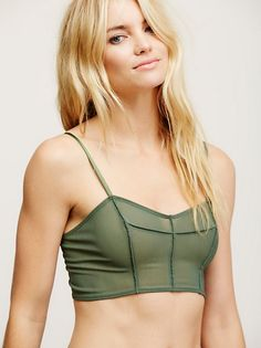 3af55fa8c972b Schatzi Mesh Bra    free people    Sheer mesh bralette with a subtle  sweetheart neckline features multiple hook-and-eye closures in back and  adjustable ...