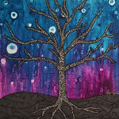 Fortitude - My Painted Path Stand Tall, Night Skies, Paths, Original Paintings, Canvas, Artwork, Artist, Flowers, Prints