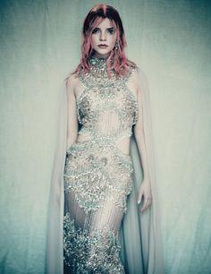 Elie Saab Haute Couture, Haute Couture Dresses, Haute Couture Fashion, Paolo Roversi, Anya Joy, W Magazine, Magazine Covers, Fashion Story, Flower Dresses