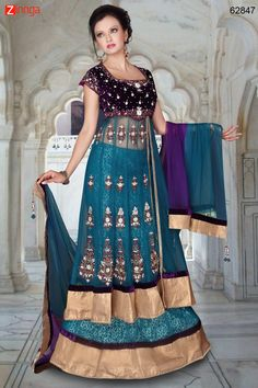 Blue Attractive Lehenga Choli In Straight Cut Look. Message/call/WhatsApp at +91-9246261661 or Visit www.zinnga.com