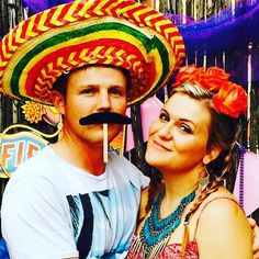 escoge un amante que te mire como si quizás fueras magia  frieda kahlo . . Going through some old photos tonight. #throwback to a #mexican #fiesta party we attended. . Is that a fake mustache or he eating a lollipop!? . . . #momentsLikeThese  #myOneAndOnly #friedaKahlo  #colorful Shop Now for one of a kind handmade clothing. Matching Mommy Me Outfits