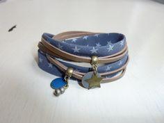 Bracelet Tissu & breloques