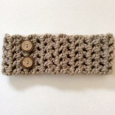 Brown headband with buttons