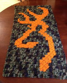 """2014 Winner - """"My husband and son spend a lot of time at their hunting camp, and… Crochet Afgans, C2c Crochet, Crochet Quilt, Crochet Cross, Crochet Blanket Patterns, Crochet Gifts, Crochet Blankets, Learn Crochet, Scarf Patterns"""