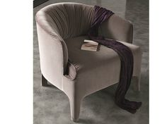 Upholstered fabric armchair with armrests opera Atelier Collection by MisuraEmme | design Mauro Lipparini