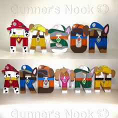 FLASH SALE PAW Patrol Letters Price Per Letter by GunnersNook