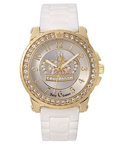 Juicy Couture Watch, Women's Pedigree White Jelly Strap 1900705 - Women's Watches - Jewelry & Watches - Macy's